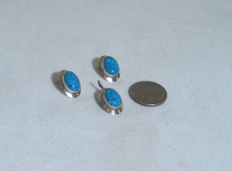 Denim Lapis Earrings & Pendant Set