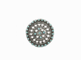 Zuni Turquoise snake eye pin or pendant