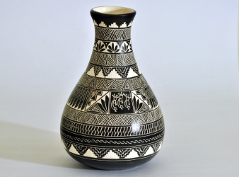 Vase (7 3/4 inches tall) by Navajo Yabeny