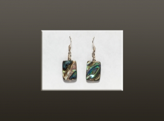 Abalone Rectangular Earrings