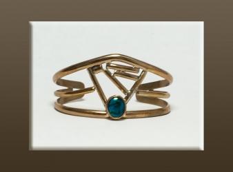 Brass & Paua Shell Bracelet