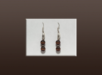 Tiger Eye Bead Earrings