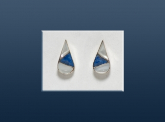 Zuni Lapis & MoP Teardrop Earrings
