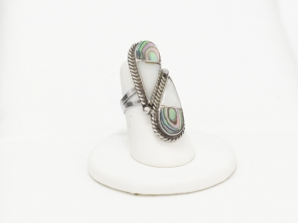 Abalone & MoP Elongated Ring