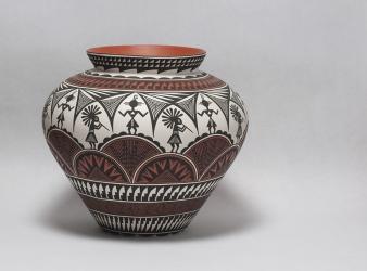 Kokopelli Acoma Vase