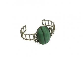 Malachite & Brass Bracelet