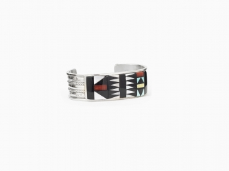 Gorgeous Zuni inlay cuff bracelet