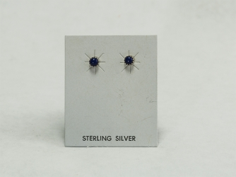 Small Dark Lapis Earrings