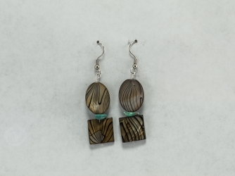 Zebra Mother of Pearl Earrings