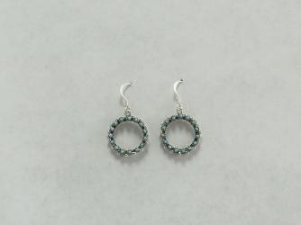 Turquoise Snake Eye Circle Earrings