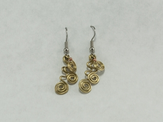 Brass dangle earrings