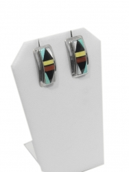 Zuni Inlay Rectangular Earrings