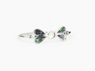 Sterling & Abalone Bow Clasp Bracelet