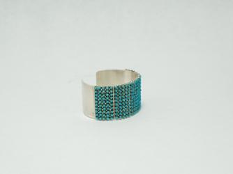 April Haloo Snake Eye Cuff Bracelet
