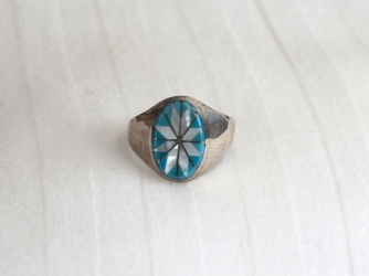 Turquoise, MoP Star Design Ring