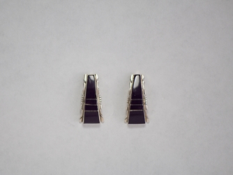 Navajo Sugilite Post Earrings by Steve Francisco