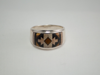 Tiger Eye, Picture Jasper and Jet Ring