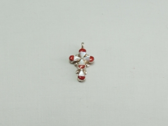 Mother of Pearl and Coral Cross